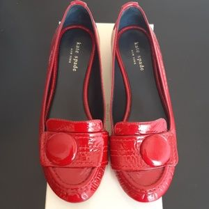 ⚜Kate Spade Red Shelly Flats Size 8.5